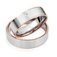 2 xTrauringe 375 9K Hochzeitsringe Verlobungsringe Eheringe Gravur Brillant S929