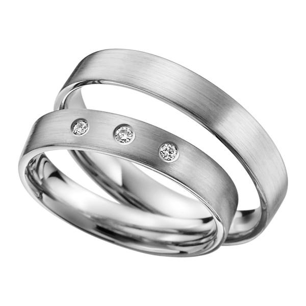 2 x Platin Trauringe Hochzeitsringe Verlobungsringe Eheringe Partnerringe R602