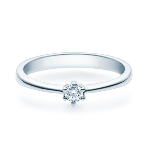 Verlobungsring 585(14K) Diamantring 6er Krappen Fassung...