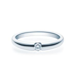 Verlobungsring 585(14K) Diamantring Weißgold...