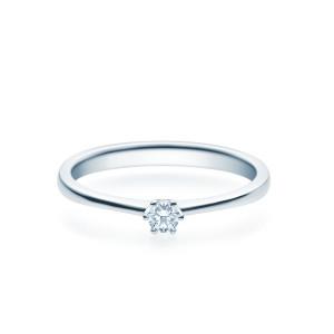 Verlobungsring 585(14K) Diamantring Weißgold 0,10ct. Solitärring Spannring Art16