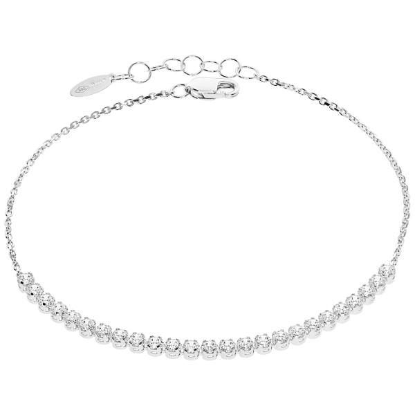 585er Weißgold Damen Armband Zirkonia Armkette Goldarmband Kettenarmband inkl. Etui