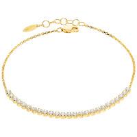 Damen Armband 585er Gelbgold Zirkonia Armkette Goldarmband Kettenarmband Etui