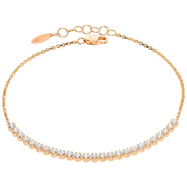 585er Rotgold Damen Armband Zirkonia Armkette Goldarmband Kettenarmband Etui