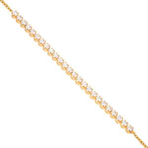 585er Rotgold Damen Armband Zirkonia Armkette Goldarmband...