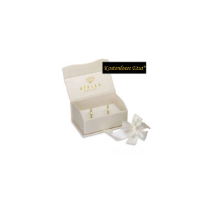 2 x 333 Bicolor Trauringe Diamant 0,02ct Eheringe Hochzeitsringe Partnerringe R237