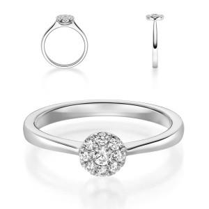 Verlobungsring 750er Weißgold Diamantring...