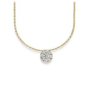 Damen Collier 750er Diamant Pavé Fassung 42cm Gold...