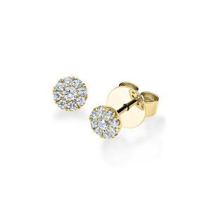 Diamonds Ohrstecker Solitaire 750er Gold Ohrringe...