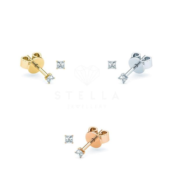 Diamonds Ohrstecker Solitaire 585er Gold Ohrringe Brillanten Ohrschmuck