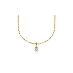 Damen Collier 585er Diamant 42cm Gold Kette Schmuck Kettenanhänger