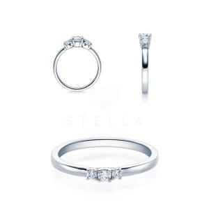 Verlobungsring 585er Weißgold Diamantring...
