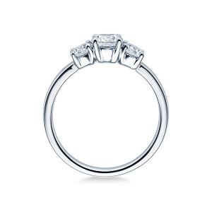Verlobungsring 585er Weißgold Diamantring Krappenfassung Solitärring Spannring