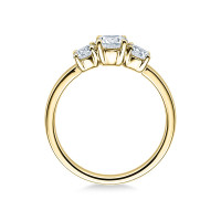 Verlobungsring 585er Gelbgold Diamantring Krappenfassung Solitärring Spannring
