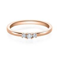 Verlobungsring 585er Rotgold Diamantring Krappenfassung Solitärring Spannring