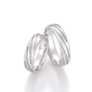 2 x 925er Silber Trauringe Eheringe Silberringe mit...