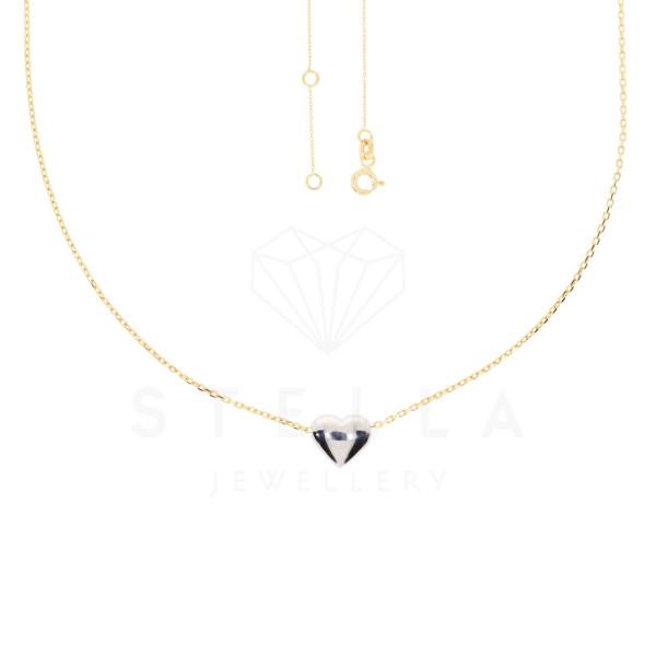 Zarte Damen Kette 42 + 2 cm mit Herz Anhänger 585er Gold Halskette inkl. Etui