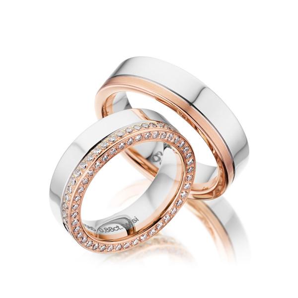 PAARPREIS Trauringe mit Diamant 585er Gold Eheringe inkl. Gravur+Etui Art.14