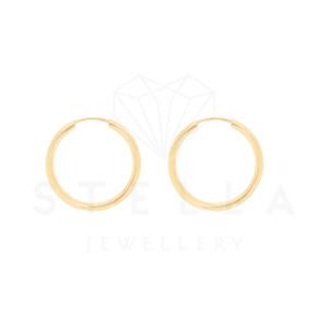 Paar Creolen Gelbgold 585er Gold Ohrringe Ohrschmuck Ohrstecker Ohrhänger