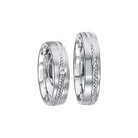 2 x Silberringe mit Diamant - EC84 Silver S34