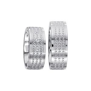 2 x Silberringe mit Diamant - EC84 Silver S38