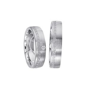2 x Silberringe mit Diamant - EC84 Silver S39