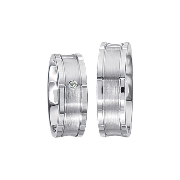 2 x Silberringe mit Diamant - EC84 Silver S50