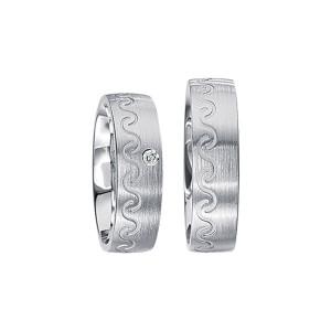 2 x Silberringe mit Diamant - EC84 Silver S51