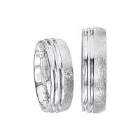 2 x Silberringe mit Diamant - EC84 Silver S56