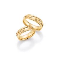 2 x Trauringe mit Diamant 585er Gold - Hearts - Love - Infinity 66/38080-060