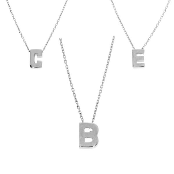 Halskette mit Buchstabe Anhänger 585er Gold Namensanhänger Kette Etui Alphabet