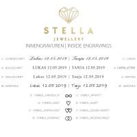 2 x Trauringe mit Diamant Weißgold 585er Gold - Honeymoon Infinity - 66/35090-045