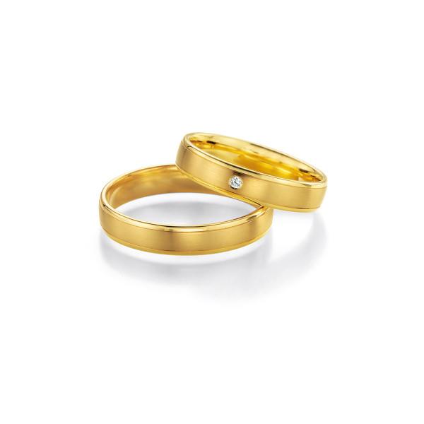 2 x Trauringe mit Diamant 585er Gold - Honeymoon Light - 66/05260-040