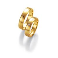 2 x Trauringe mit Diamant 585er Gold - Honeymoon Light - 66/05270-045