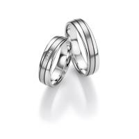 2 x Trauringe mit Diamant 585er Gold - Honeymoon Light - 66/05280-050