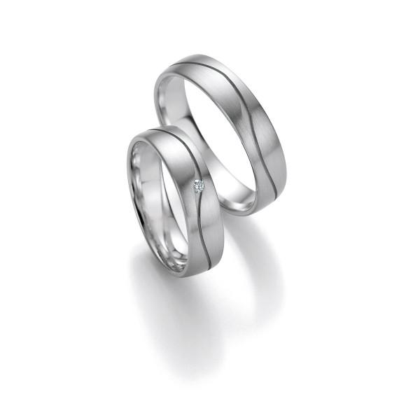 2 x Trauringe mit Diamant 585er Gold - Honeymoon Light - 66/05300-050