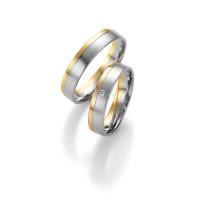 2 x Trauringe mit Diamant 585er Gold - Honeymoon Light - 66/07230-045