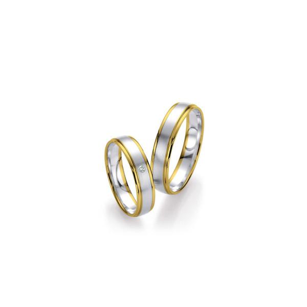 2 x Trauringe mit Diamant 585er Gold - Honeymoon Light - 66/07240-045