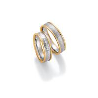 2 x Trauringe mit Diamant 585er Gold - Honeymoon Visions - 66/37010-055