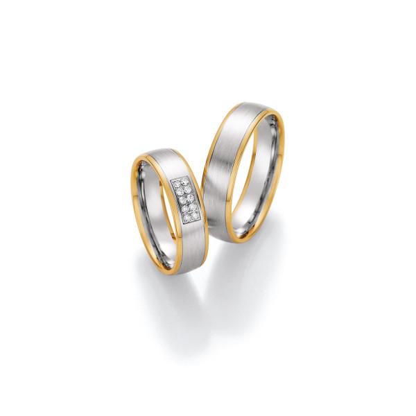 2 x Trauringe mit Diamant 585er Gold - Honeymoon Visions - 66/37050-055