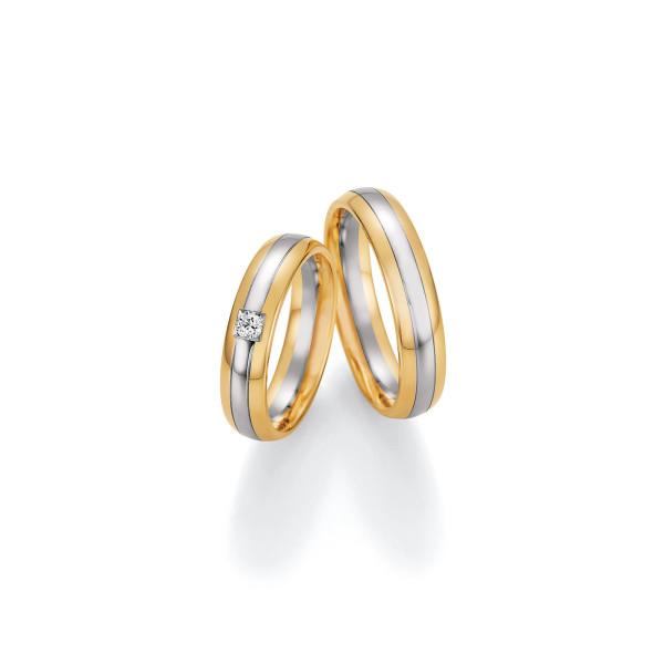 2 x Trauringe mit Diamant 585er Gold - Honeymoon Visions - 66/37070-050