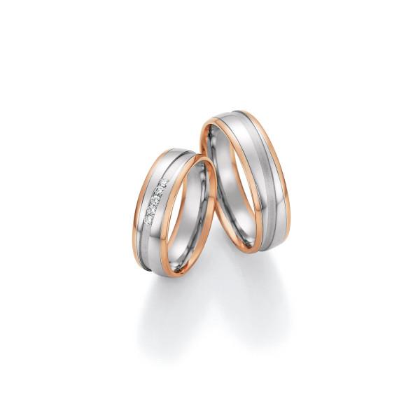 2 x Trauringe mit Diamant 585er Gold - Honeymoon Visions - 66/37090-060