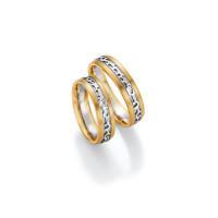 2 x Trauringe mit Diamant 585er Gold - Honeymoon Visions - 66/37110-055