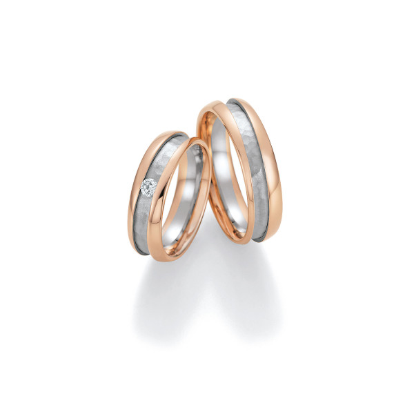 2 x Trauringe mit Diamant 585er Gold - Honeymoon Visions - 66/37150-060