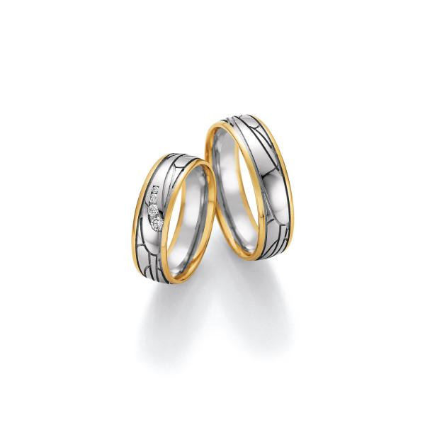 2 x Trauringe mit Diamant 585er Gold - Honeymoon Visions - 66/37170-060