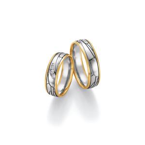 2 x Trauringe mit Diamant 585er Gold - Honeymoon Visions...