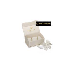 2 x Trauringe mit Diamant Palladium 585 - EC84 Palladiumstar - R908