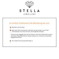 2 x Trauringe mit Diamant 585er Palladium & Silber - Shadow Line - R946