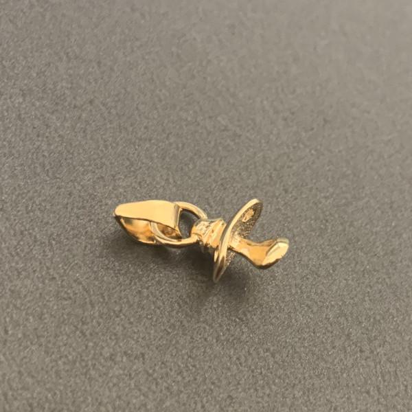 Anhänger Schnuller 585er Gold Gelbgold massiv inkl. Etui Goldanhänger Nuckel