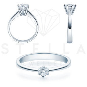 Verlobungsring Solitaire 585er Gelbgold 0,15ct. Diamant...